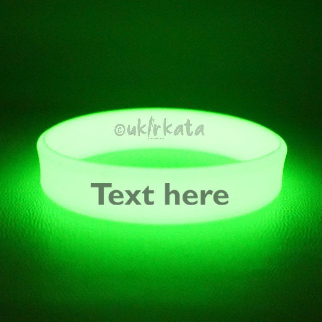 Glow in the Dark Rubber Wristband