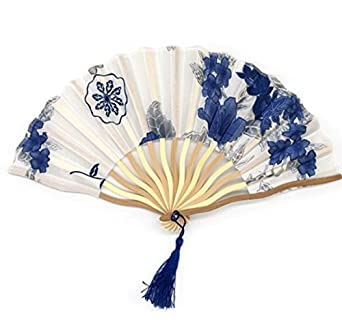 Oriental Wedding Invitation Hand Fan with Strap