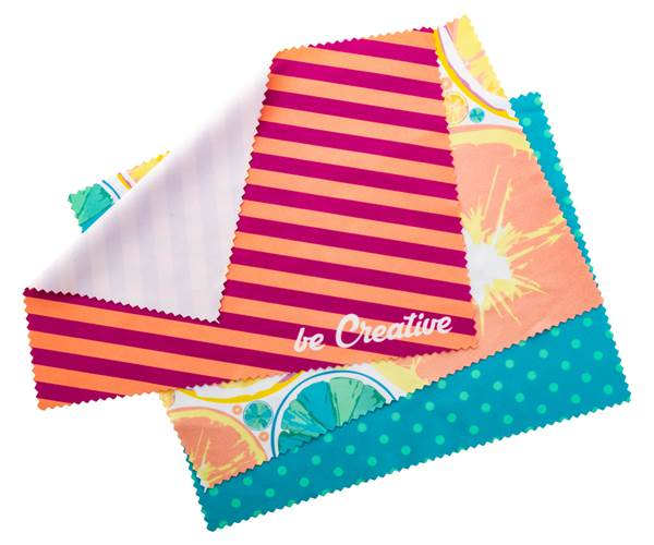 Promotional cleaning cloth with print