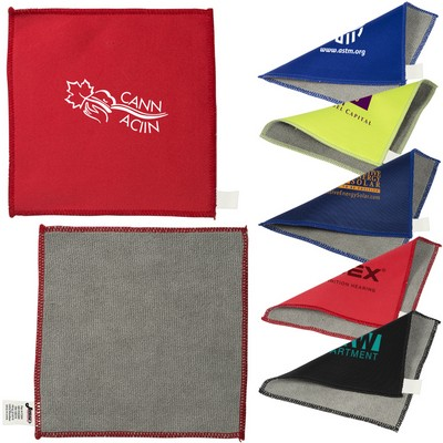 Promotional cleaning cloth with embroidery