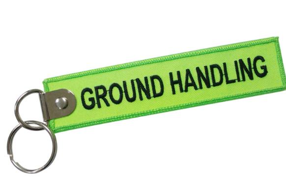 ground handling  embroidery key pendant