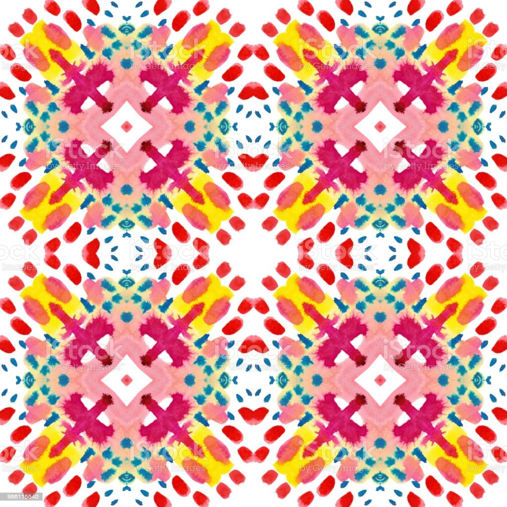Kaleidoscope colorful geometric pattern for surface and textile design.