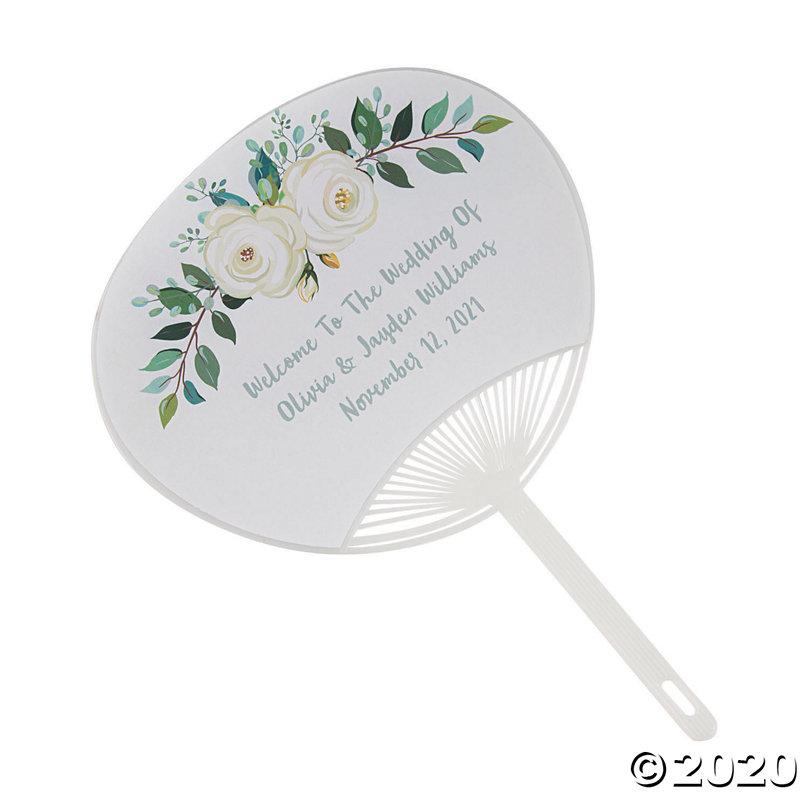 Custom Wedding Invitation Hand Fan