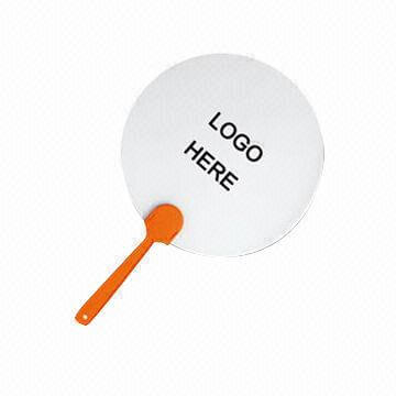 Promotional Plastic Hand Fan with Logo