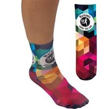 Colourful advertiding promo custum made socks