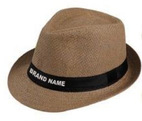 Reklamní slaměný klobouk