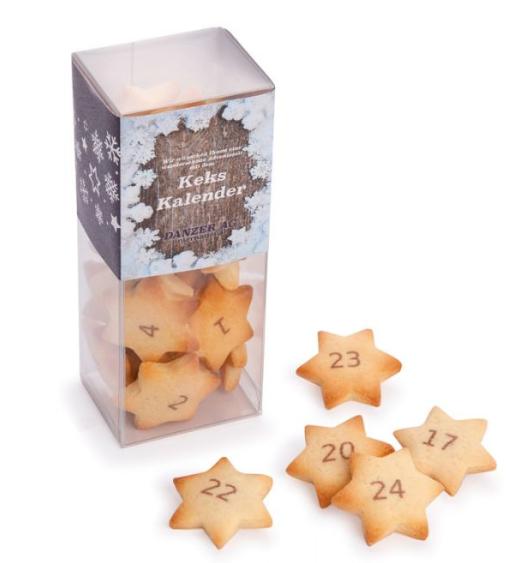 Sušenkové reklamní adventní kalendáře